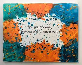 You Are Enough Encaustic