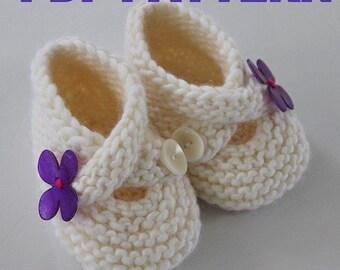 PATTERN PDF - Toasties Baby Booties Very Easy Three Sizes Photo Tutorial
