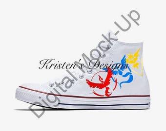 Pokemon Go Team Custom Shoes