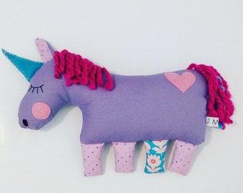 Sherbert the sleepy Unicorn plush toy for babies