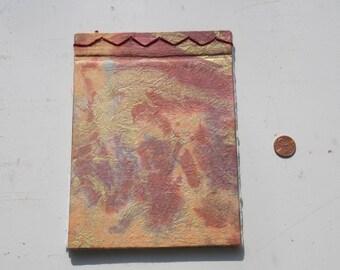 Artist Book 2 Orange Marble