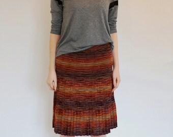 Vintage MISSONI space-dye skirt c.1970's - Designer