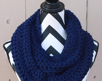 Ready to Ship Navy Infinity Scarf