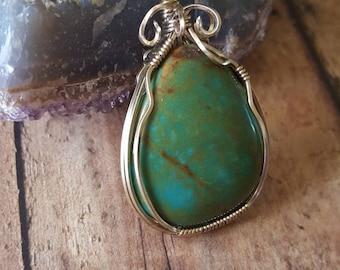 Pilot Mountain Turquoise Stone Necklace
