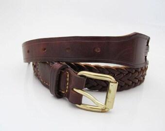 Vintage Leather Belt Brown