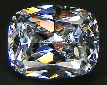 Top Quality  6A Cushion Cut 10 x 8  MM. White Russian Cubic Zirconia CZ Loose Gemstones