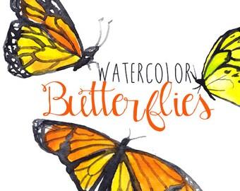 Watercolor Butterfly Clip Art