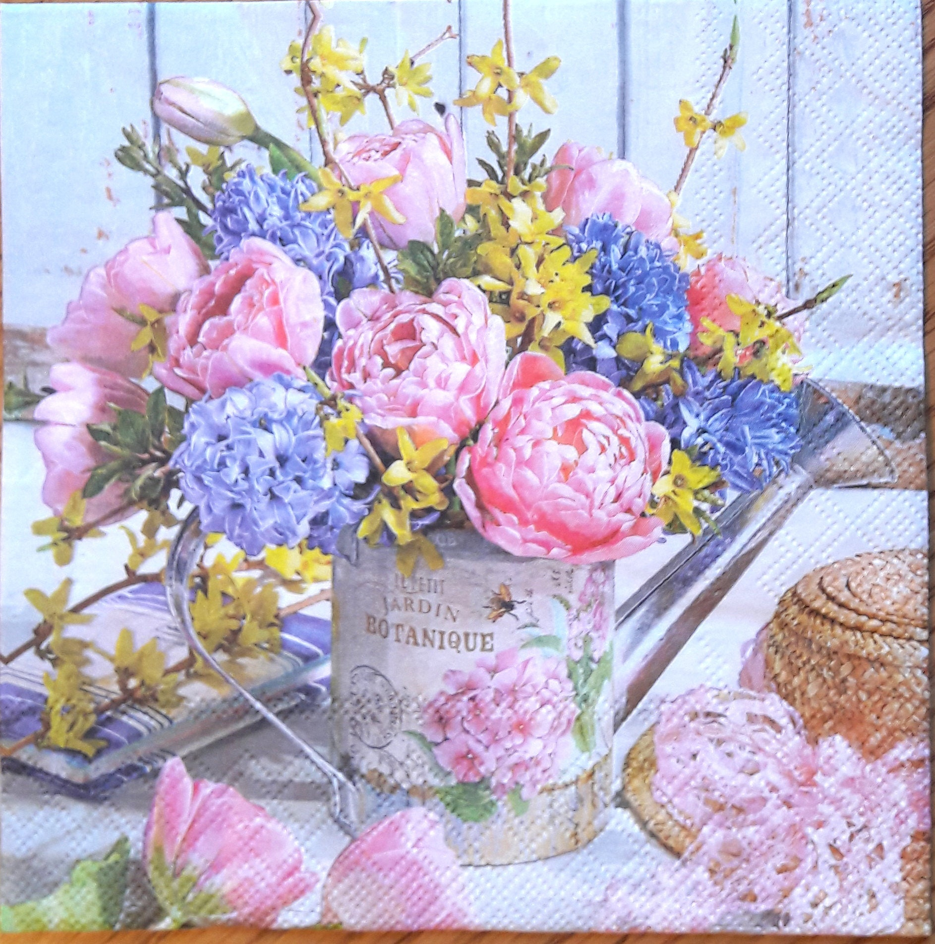 Decoupage Paper Napkins Flowers Scrapbooking Supplies