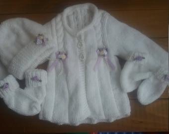Girls white newborn set