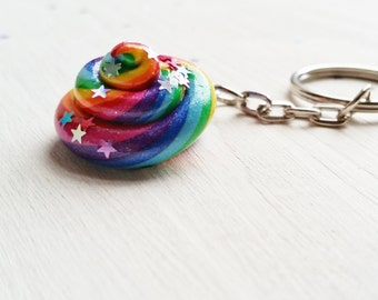 Unicorn Poop Keyring. Rainbow. Unicorn. Glitter. Magical Handmade. Ready to ship