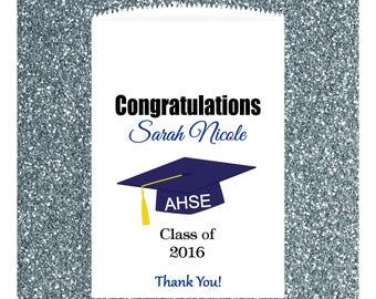 G1, Graduation, Candy Buffet, Graduation Candy Bag, Candy Favor Bags, Treat Bags, Kraft Bags, Personalized bags, Paper Bag, Congratulations