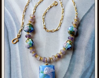 Artisan Lampwork Glass Necklace