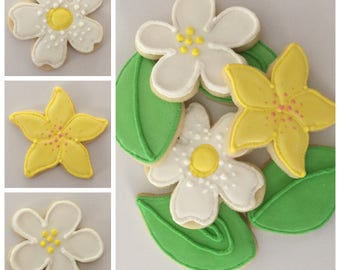 Flower Cookies (Gluten Free Available)