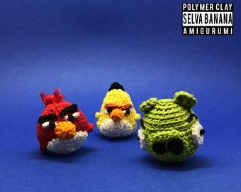 Angy birds & Bad piggies, Handmade crochet
