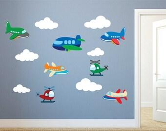 Airplane Wall Decals Plane Wall Decals Planes And Clouds 3d