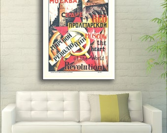 Red Moscow Is The Heart Of The Proletarian World Revolution - 1921 Russia