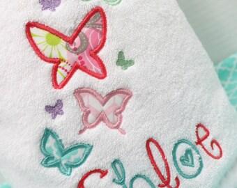 Kids Bath Towel, Girls Bath Towel, Personalized Beach Towel, Kids Pool Towel, Girls Beach Towel, Butterfly Towel, Personalized Bath Towel