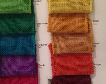 "2.5"" WIRED BURLAP - Ribbon by the yard!  Select a Color!  Great for craft projects, and wreaths!  Beautiful Decor Accent"