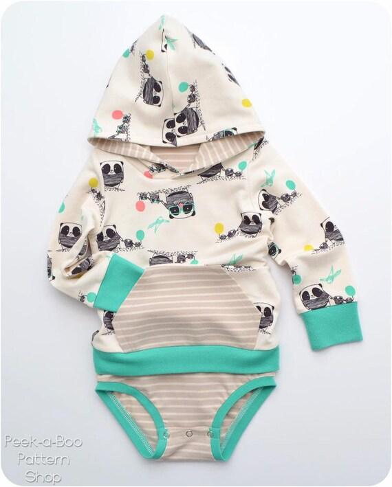 Eeny Meeny Miny Moe PDF Sewing Pattern: Baby Hoodie Baby