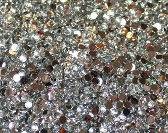 1000 Crystal Flat Back Acrylic Rhinestones Gems, Clear, Choose Your Size ss6, ss12, ss16, ss20