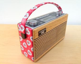 Roberts Rambler RD76 DAB Radio in Cath Kidston Sweetheart Rose