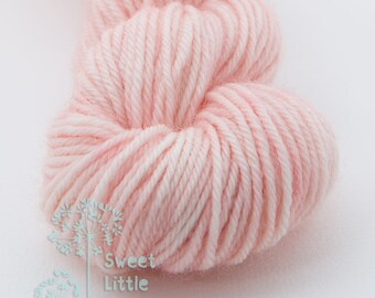 Mini skein - Beautiful hand dyed light pale pink hank of sock weight superwash merino wool