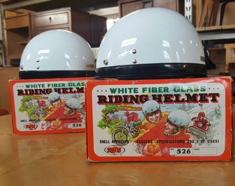 One RARE Vintage WFS motorcycle helmets in original box's. Two are available