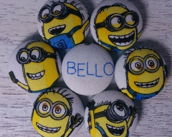 7 Minions Fabric Button Magnets---Chore charts, Kitchen magnets