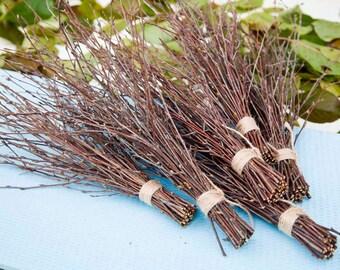 6 Bundles of Birch Twigs, Birch Bark Wedding Decor, Birch Tree Branch, Birch Branches, Rustic Weddings, Decorative Birch, Rustic Decor