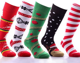 Samson® Christmas Socks Knee High Sport Stockings Festive Seasonal Winter Thermal Thick Cosy Warm