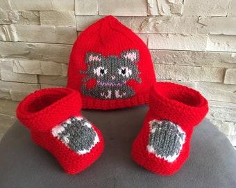 all baby bonnet booties CAT 6/9 months