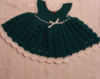Handmade Crochet infant Dress