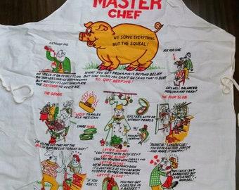 Comical Vintage BBQ Apron MasterChef
