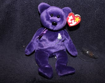 Rare 1997 Princess Diana Original Ty Beanie Baby with Tag errors