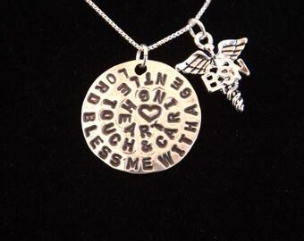 BSN Necklace, Nurse's Prayer necklace, BSN gift, BSN graduation gift, Nurse graduation necklace, Nurse necklace, Nurse gift