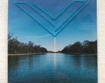 Washington Monument - Washington DC - Geometric Embroidered Photograph