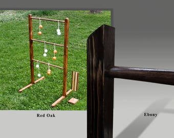 Ladder Ball Yard Game Set with Tote - Wedding games Wooden Ladderball wood ladder Golf Ball Bolas ladder toss Redneck Horseshoes party game