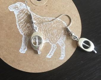 Minimalist silver earrings