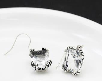 Transparent earrings vintage