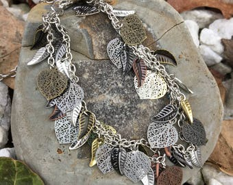 Woodland Druid Forest Faerie Bracelet - Tree Magick - Leaf Jewelry - Pagan - Tribal - Witchcraft - Earth Protector - Nature Guardian