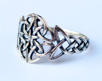 Celtic Crown Ring Sterling Silver Pagan Ring Norse jewelry Viking Ring Celtic jewelry Celtic Rings for Women Viking jewelry Celtic Knot Ring