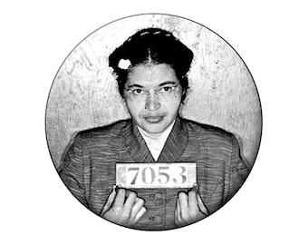 Rosa Parks Magnet - Rosa Parks Prisoner 7053 Arrest Photo Political 2.25 inch Round Fridge Magnet