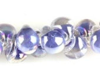10 HandmadeLuster Blueberrry Teardrop Lampworked Beads - 13mm (22669)