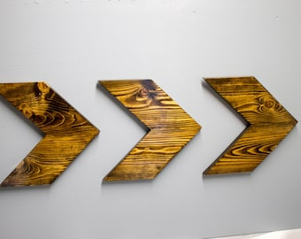 Wooden Chevrons, Finished or Unfinished, Direction, Rustic