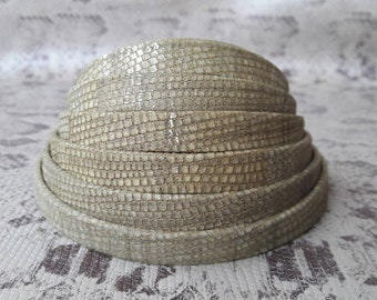 leather lined khaki border silver 10 mm high European quality