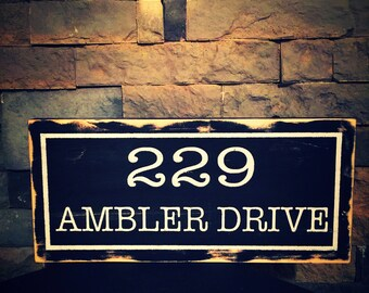 Single Side Address Sign. Home Address Sign. Personalized Address Sign. Personalizes House Number Plaque. Address Plaque. Outdoor Sign.