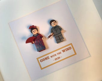 Gone With the Wind Lego® Picture Frame Scarlett Ohara Rhett Butler Wall Art Film Classic Movie Christmas Home Decor Lego People
