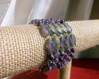 Amethyst Pisces Bracelet