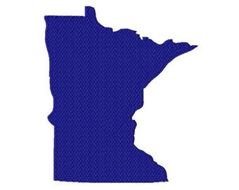 USA State Minnesota Solid Fill Machine Embroidery DESIGN NO. 592