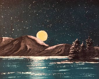 "Original Acrylic Painting - ""Night Sisters"""